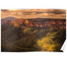 Chasing The Light - Govetts Leap - Blue Mountains World Heritage Area -The HDR Experience Poster