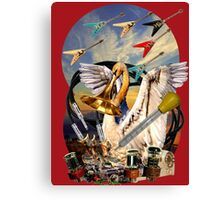 Swan and flying Vees Canvas Print