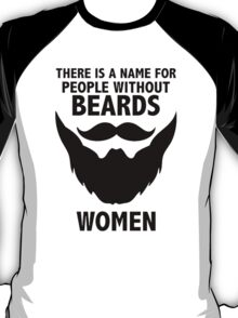 FUNNY BEARDS PRINTED MENS T-Shirt