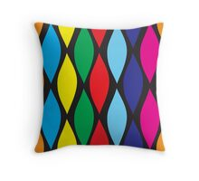 CANDY NIGHTS WAVES Throw Pillow
