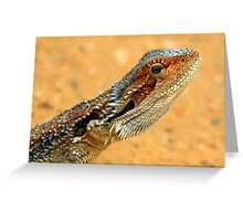 SPIKES AND SCALES Greeting Card