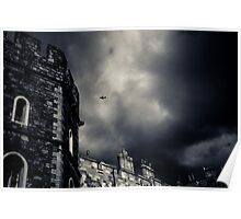 Windsor Castle with aeroplane Poster