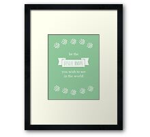 Be the Leslie Knope You Wish To See Framed Print