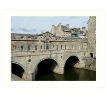 Bridge in Bath Art Print