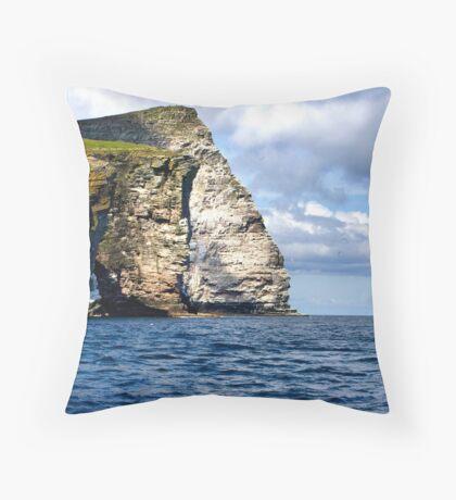Noss Cliffs Throw Pillow