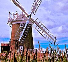 The Windmill at Cley by George Swann