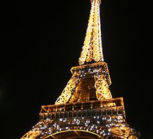 The Eiffel Tower at Night by Jenna Bussey