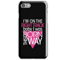 GAGA - BORN THIS WAY (PINK - CLEAR) iPhone Case/Skin