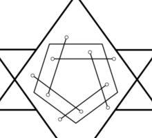 Reverse Flame Alchemy Symbol Sticker