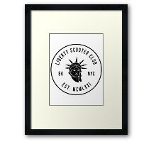 Liberty Scooter Club Framed Print