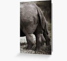 Rhinos Tail Greeting Card