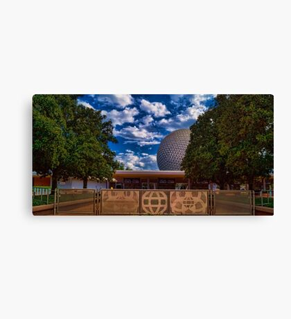 Welcome to Epcot - Spaceship Earth Canvas Print