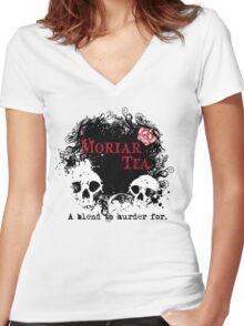 Moriar Tea 2 Women's Fitted V-Neck T-Shirt