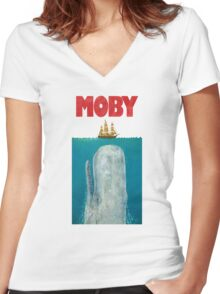 Moby  Women's Fitted V-Neck T-Shirt
