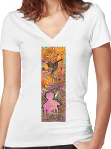 Lady of HOPE - A Breast Cancer Donation Women's Fitted V-Neck T-Shirt
