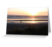 A Sunset Ride on the Oregon Coast Greeting Card