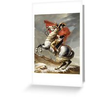 Napoleon Crossing the Alps Greeting Card