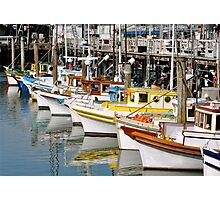 Colorful Tugs in a Row Photographic Print