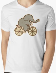 Elephant Cycle  Mens V-Neck T-Shirt