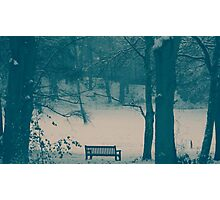 Lonley Bench Photographic Print