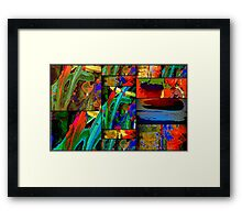 Deep Sea Quilt Framed Print