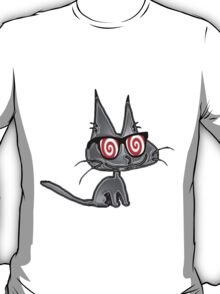 Cat With Hypno Glasses T-Shirt