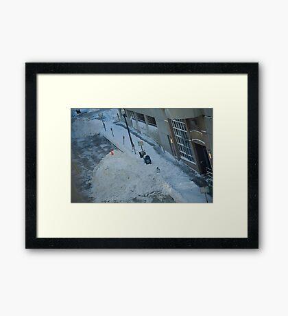snowstorm sunday Framed Print