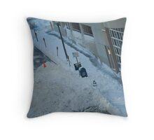snowstorm sunday Throw Pillow