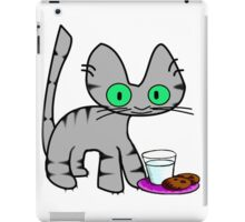 Kitty With Milk And Cookies iPad Case/Skin