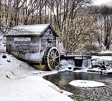 Winter Embraces the Hyde's Mill Dam (Est. 1850) by wiscbackroadz