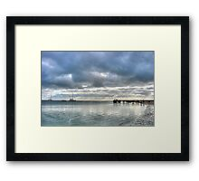 Waiting for dolphins Framed Print