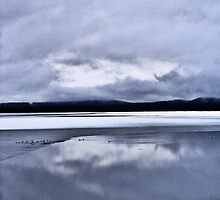 A Frozen Lake Almanor by NancyC