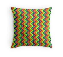 Psychedelic Waves  Throw Pillow