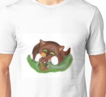 Fairy Makes  a Slow Get-a-way on a Snail Unisex T-Shirt