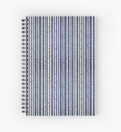 Birch wood forest Spiral Notebook