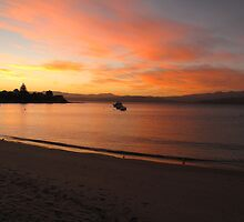 Sunset at Opossum Bay by Kasia  Kotlarska