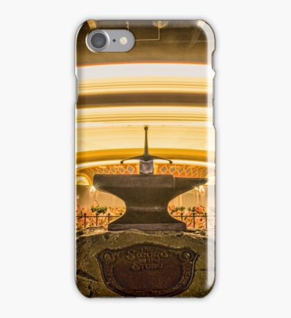 The Sword in the Stone at Magic Kingdom iPhone Case/Skin