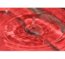 super red water drop Photographic Print