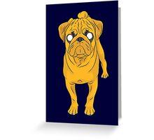 Jake the Real Dog Greeting Card