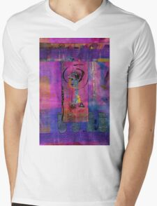 Lady in Blue Mens V-Neck T-Shirt