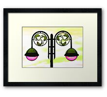 Colourized lamppost Framed Print