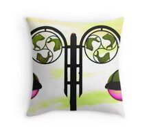 Colourized lamppost Throw Pillow
