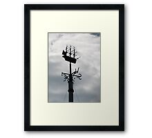 Endeavour in the sky Framed Print