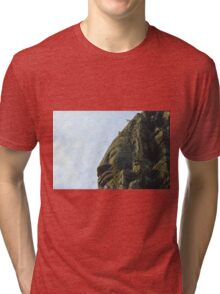 One of the 4 faces of a bayon tower Tri-blend T-Shirt