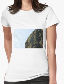 One of the 4 faces of a bayon tower Womens Fitted T-Shirt