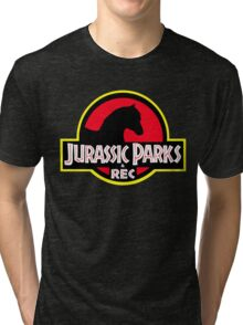 Jurassic Parks and Rec Clean Tri-blend T-Shirt