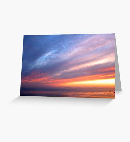 Coloured Sky Greeting Card