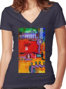 Four Souls Heading Home Women's Fitted V-Neck T-Shirt