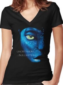 Unobtanium, ...Bullshitium - Face  Women's Fitted V-Neck T-Shirt