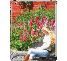 Finn on Phone Affront Lupine and Phlox iPad Case/Skin